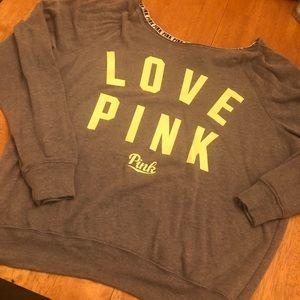 Pink sweatshirt very good cond size M super soft